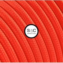 Textus - Cavo Tondo Arancio Fluo con Rivestimento Tessile