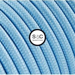 Textus - Cavo Tondo Azzurro con Rivestimento Tessile