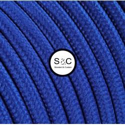Textus - Cavo Tondo Blu con Rivestimento Tessile