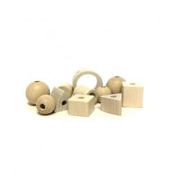 Perline di legno di varie forme