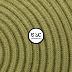 Textus - Cavo Tondo Verde Oliva con Rivestimento Tessile
