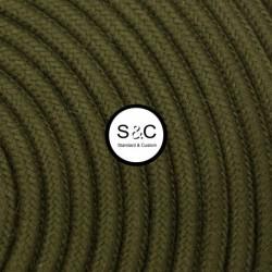 Textus - Cavo Tondo Verde Militare con Rivestimento Tessile