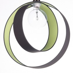 Sospensione Antracite interno Verde oliva